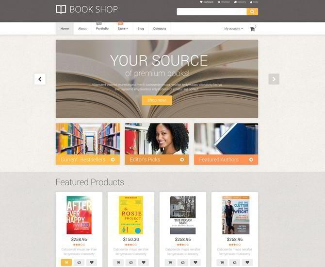 Buchhandlung Template