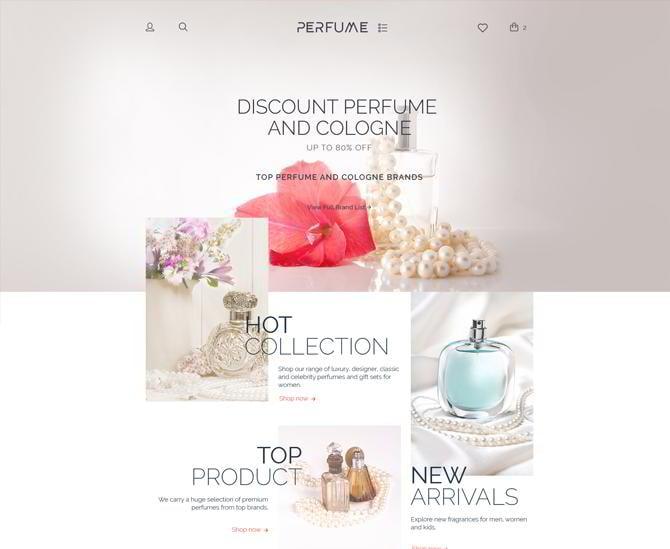 Template für Parfüme
