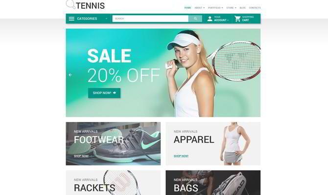 Template für Tennisspiele