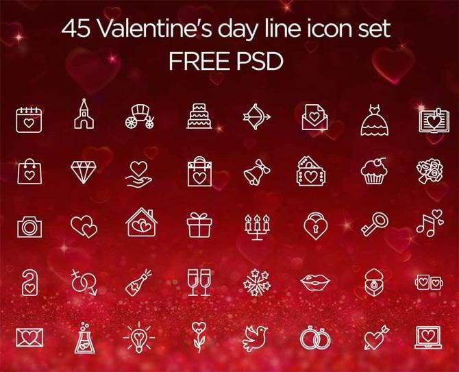 40 Valentinstag PSD Freebies