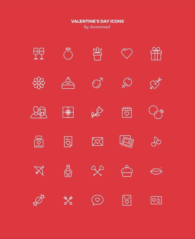 Kostenlose Valentinstag Icons