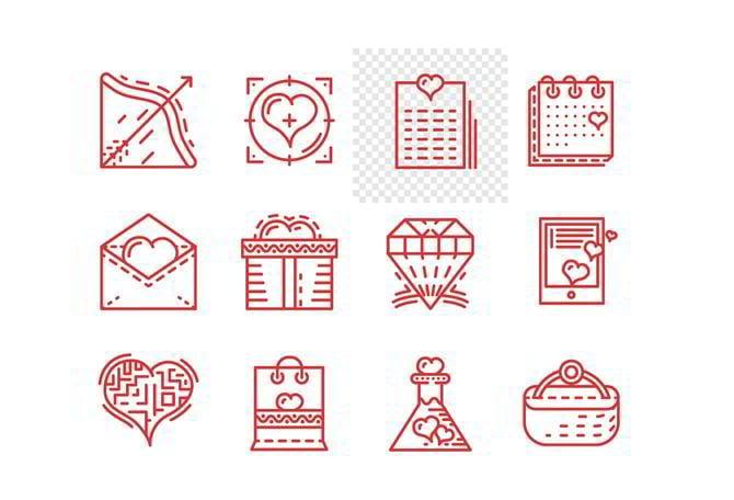 Valentinstag Icons von Oleksandr Yershov