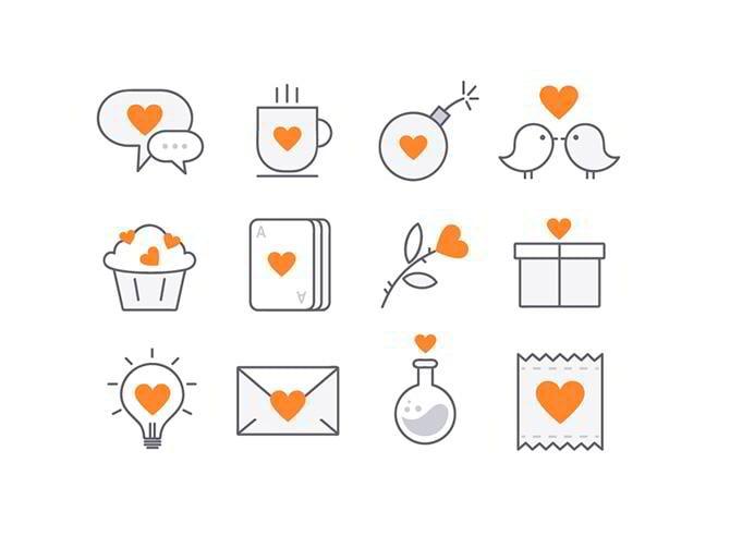 Liebe Icons von Nastia Piven
