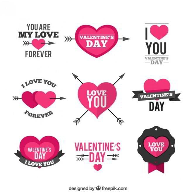 Gratis Vektor von Freepik zum Valentinstag