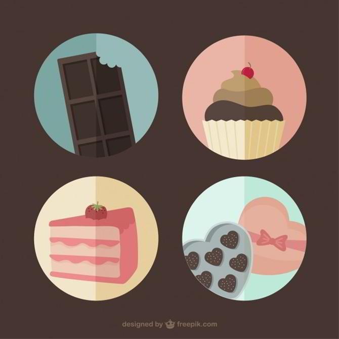 Süßigkeiten Gratis Vektor von Freepik