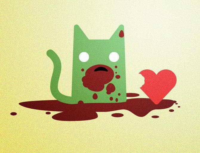 Zombie Katze
