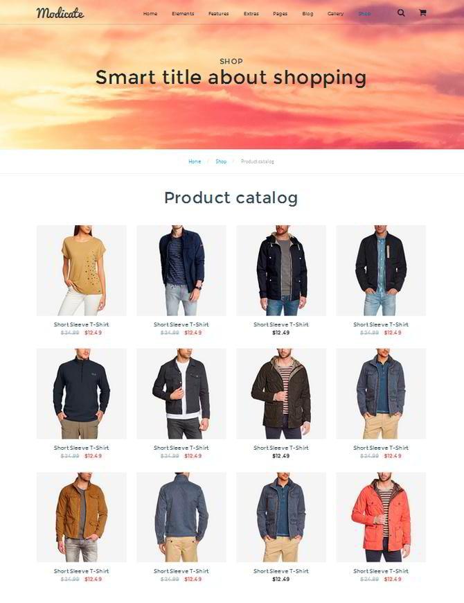Modicate Produktkatalog Seite