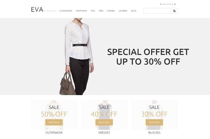 Homepage-Vorlage für Kleidungsgeschäft-2