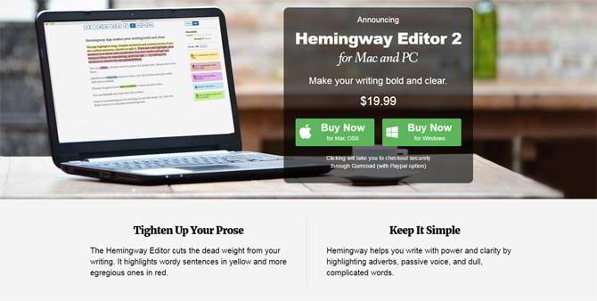 Schreibwerkzeug-Hemingwayapp