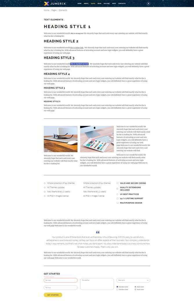 Jumerix-UI-Elemente