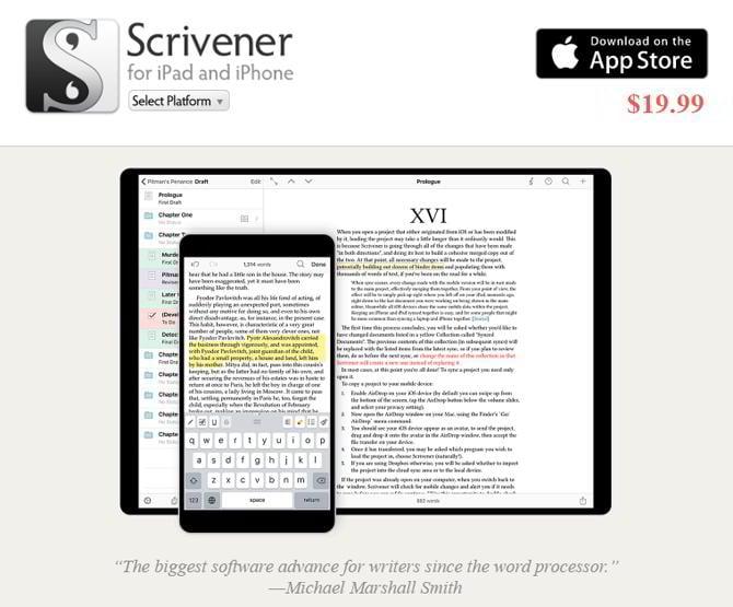 Schreibwerkzeug-Scrivener