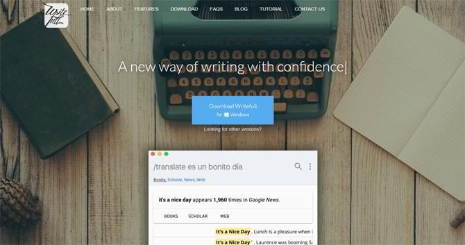 Schreibwerkzeug-Writefull-app