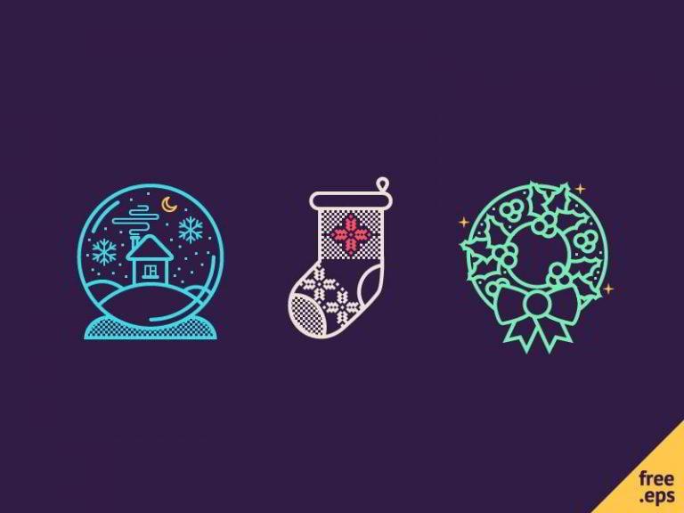 Weihnachts-Icon-Set-von-Dasha