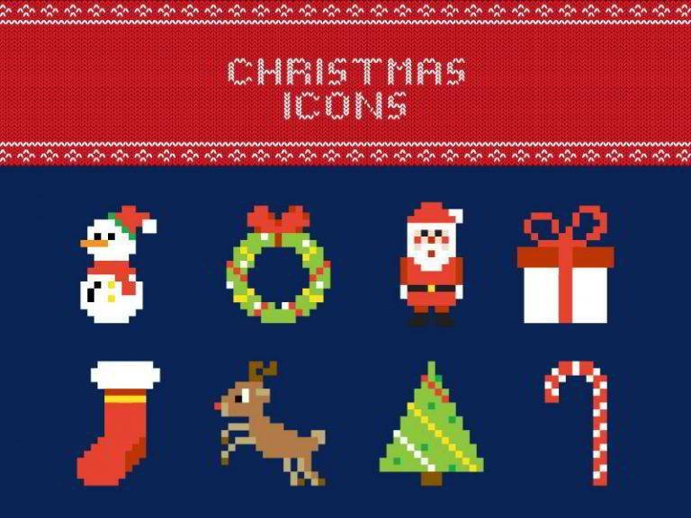 Weihnachts-Icons-von-Anna-Sereda