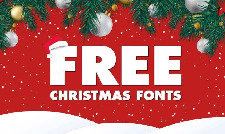 33 kostenlose Weihnachtsschriften für Weihnachts-Muffel