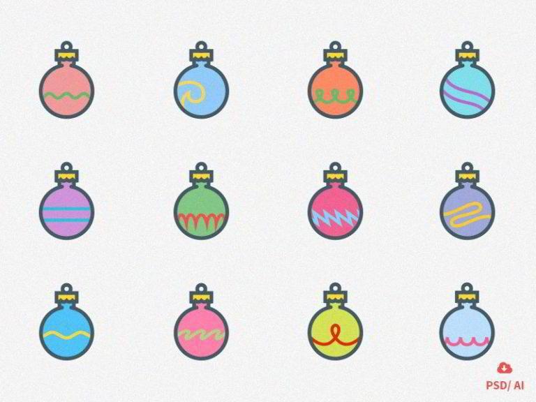 Weihnachts-Icons-von-Oxygenna