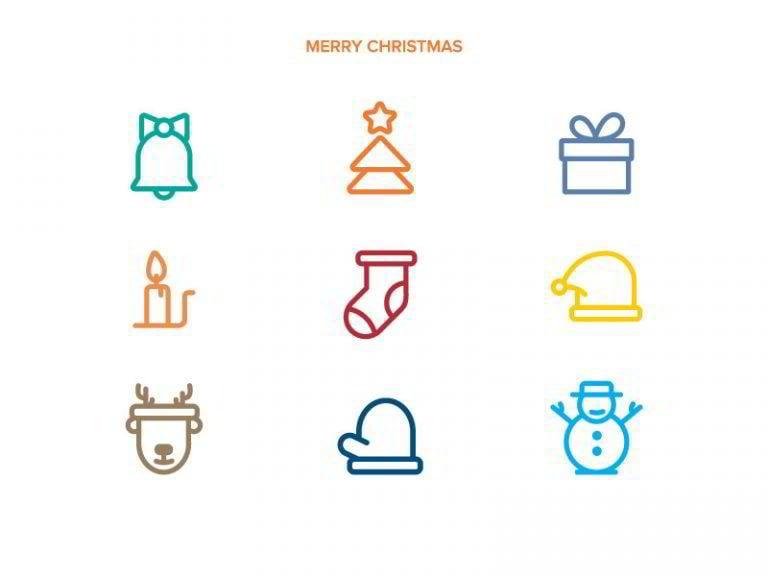 Weihnachts-Icons-von-Adheedhan-Ravikumar