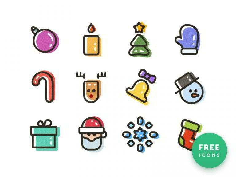 Weihnachts-Icons-von-Andrey-Stelya