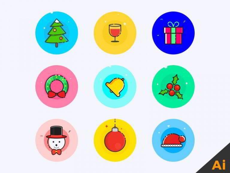 Weihnachts-Icons-von-George