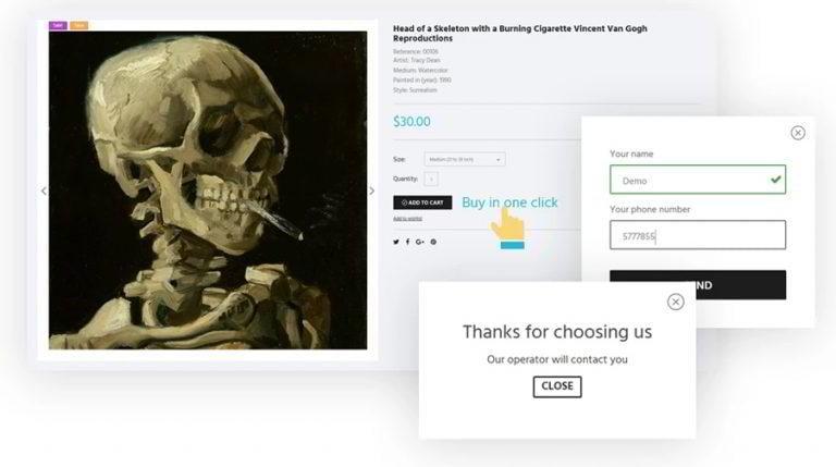 Artworker-ein-Klick-Bestellung