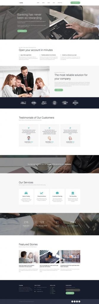corporate-website-design-banking-home-page