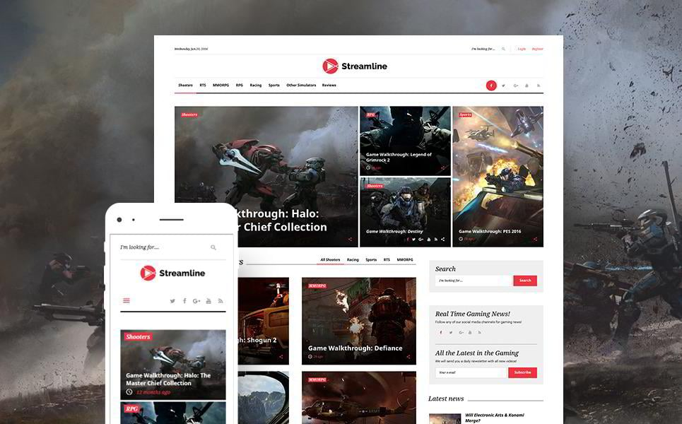 streamer-wordpress-theme