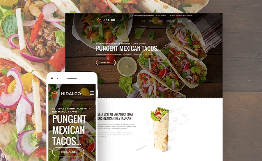hidalgo-mexikanisches-restaurant-wordpress-theme