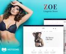 Der Newcomer Zoe von MotoCMS  erfüllt Eure Erwartungen vollends!
