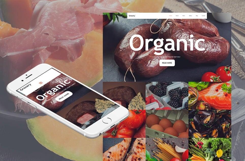 Responsives Moto CMS 3 Template für Lebensmittelgeschäft