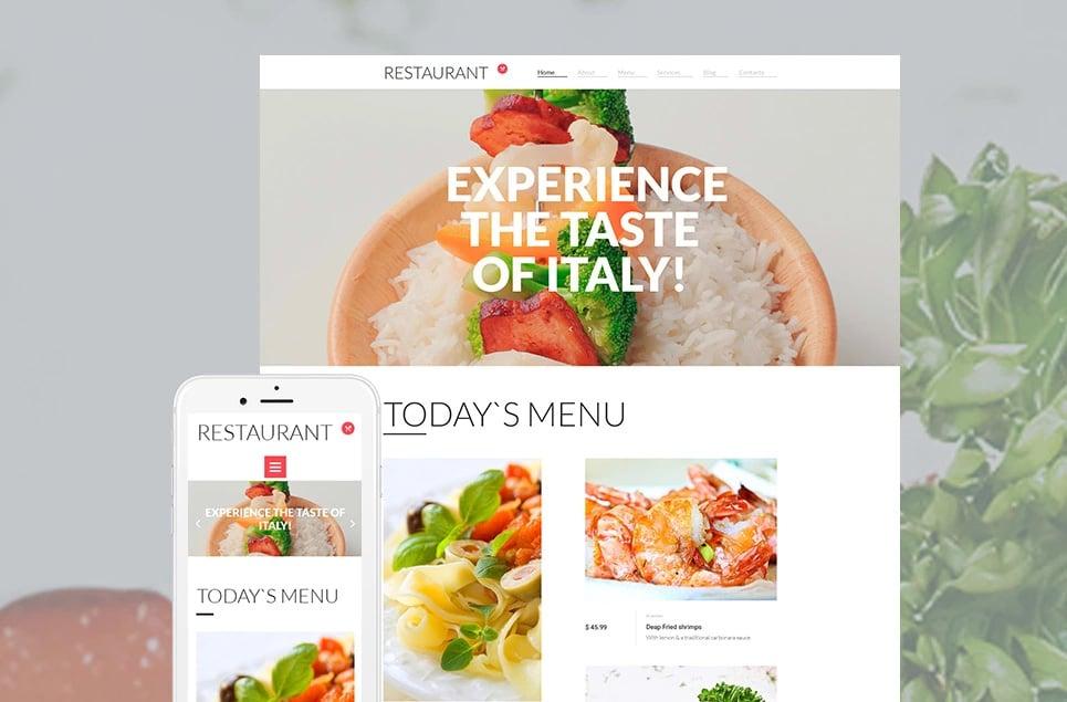 Responsives Moto CMS 3 Template für Cafe und Restaurant