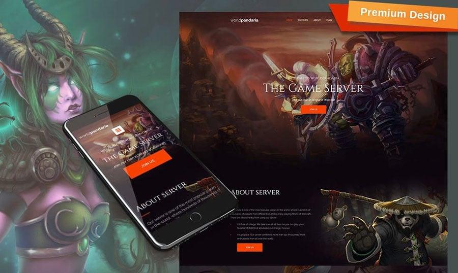 WorldPandaria - Website für Spielportal