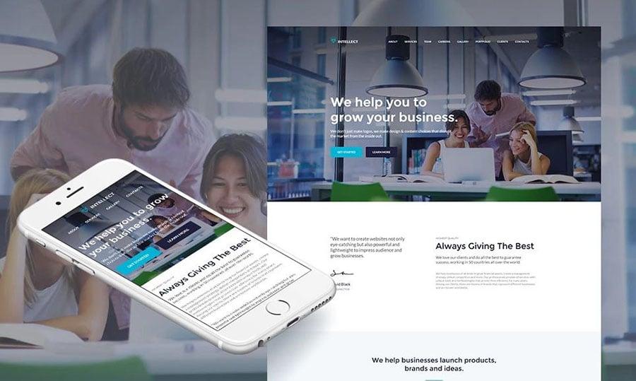 Intellect - Homepage für Business erstellen