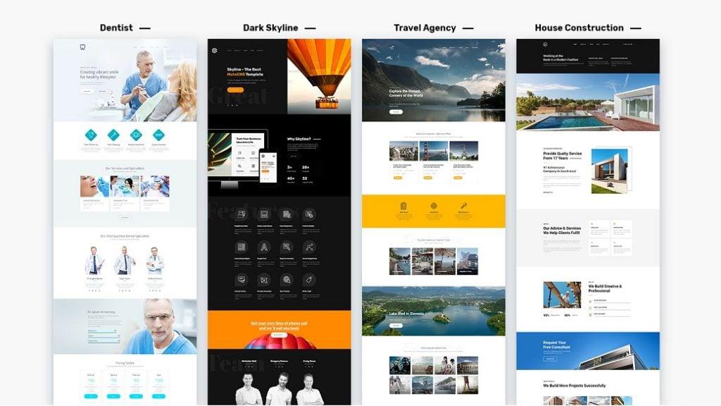 Skyline Business Homepage - Startseite ansehen