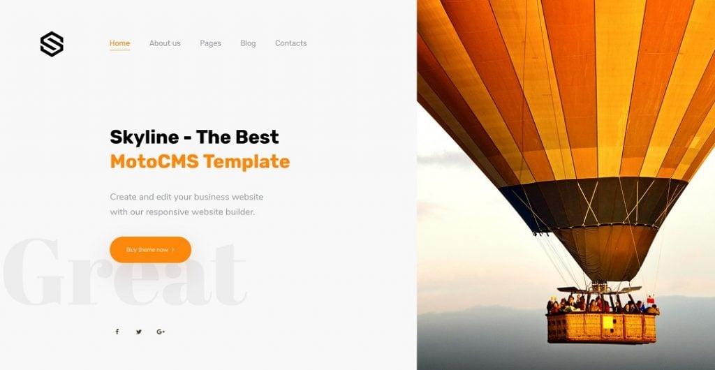Skyline Business Website - Startseite öffnen