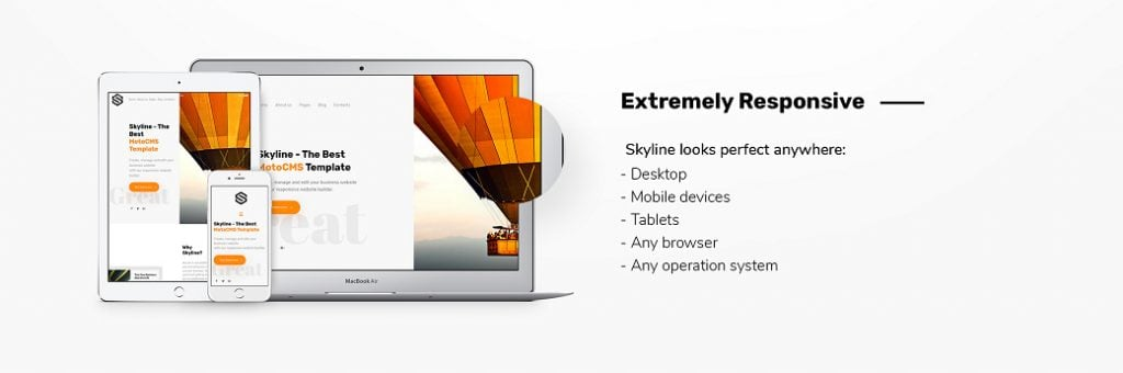 Skyline Business Website - Responsivität