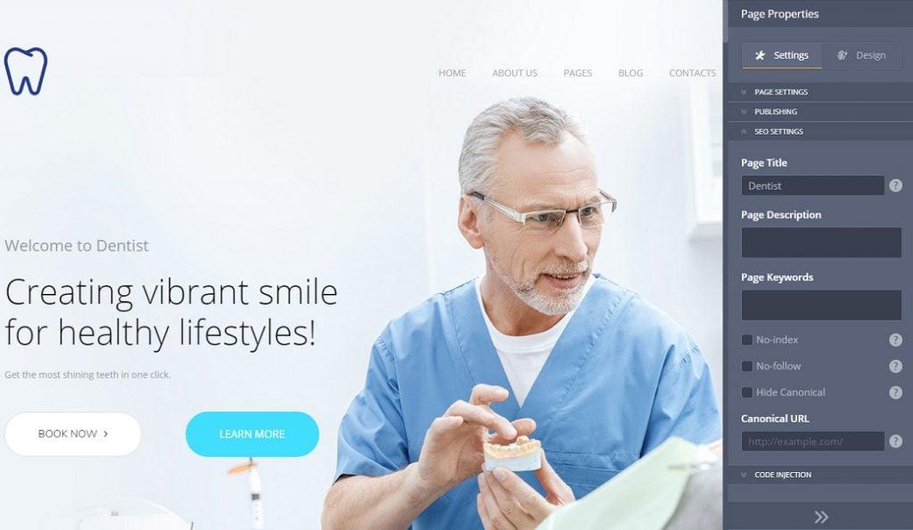 Skyline Business Website und ihre SEO Einstellungen