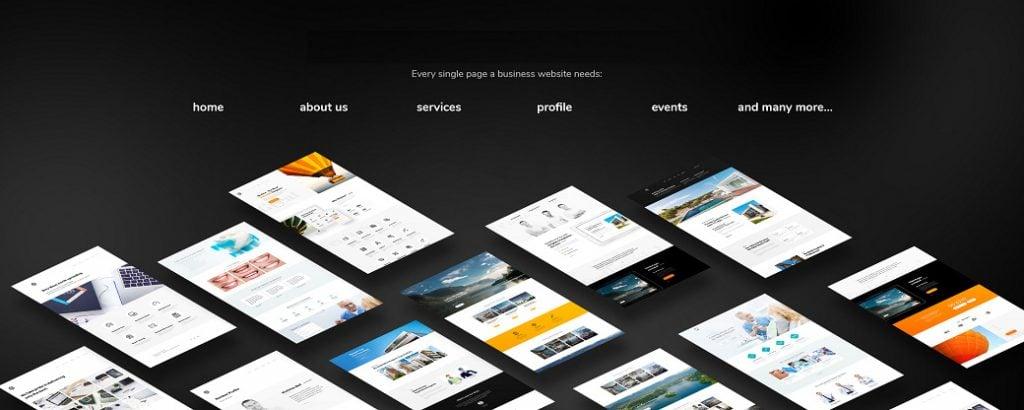 Skyline Business Homepage verfügt über 20 Seiten