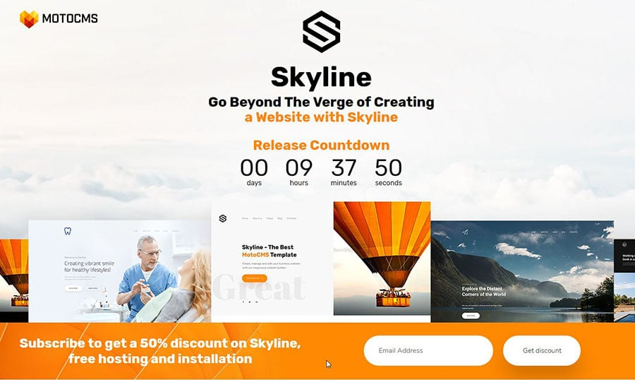 Skyline Vorlage für eine Business Website