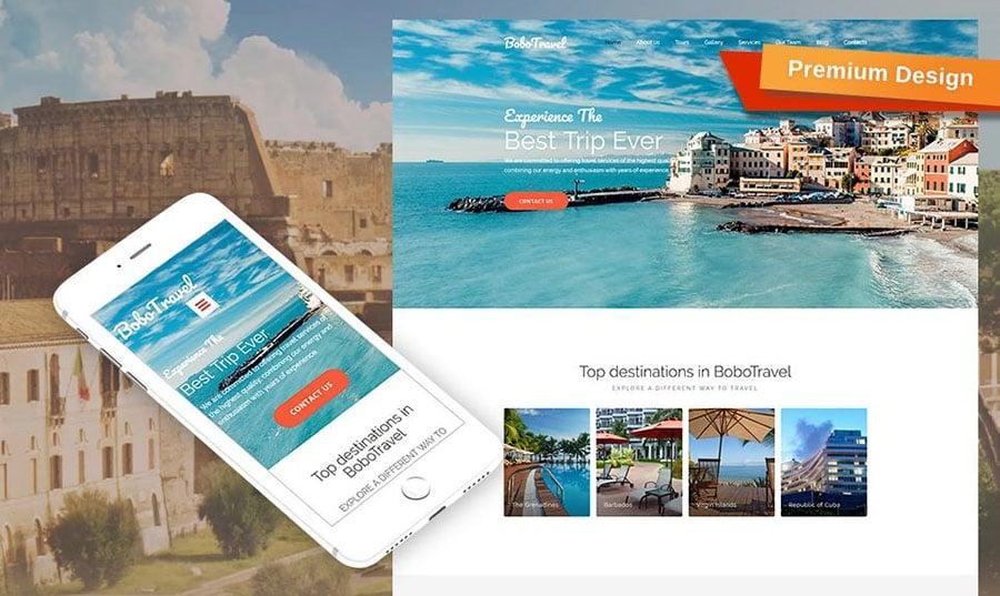 Website für Reisebüro erstellen