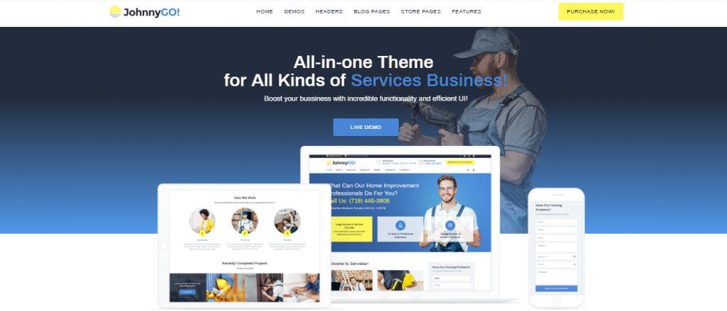 JohnnyGo - Mehrzweckiges WordPress Theme für Hausservice-Websites