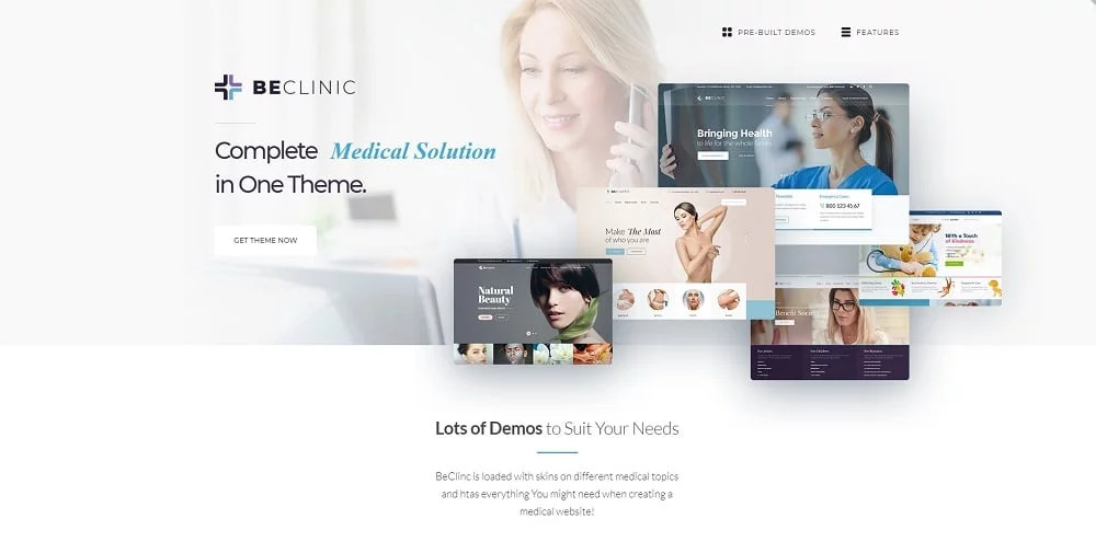 BeClinic - Mehrzweckiges WordPress Theme für Medizin-Websites