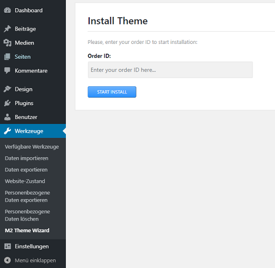 install theme wordpress dashboard