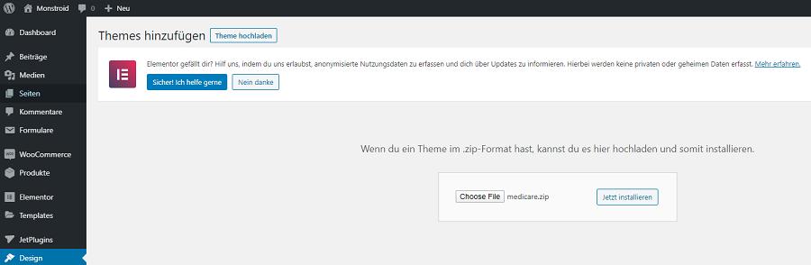 wordpress neues team hinzufügen