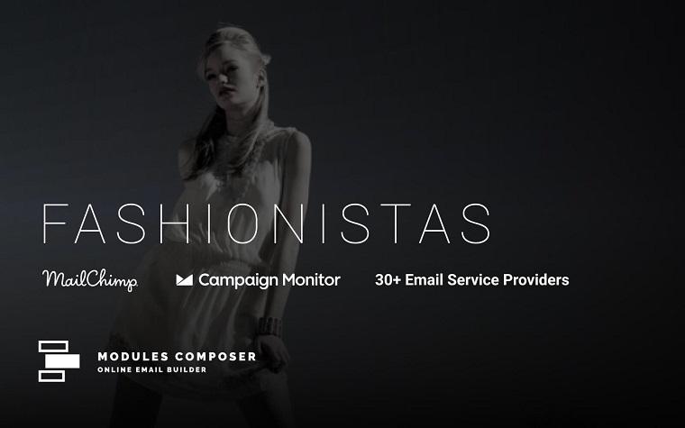 Fashionistas - E-Mail mit Online Builder Newsletter Vorlage