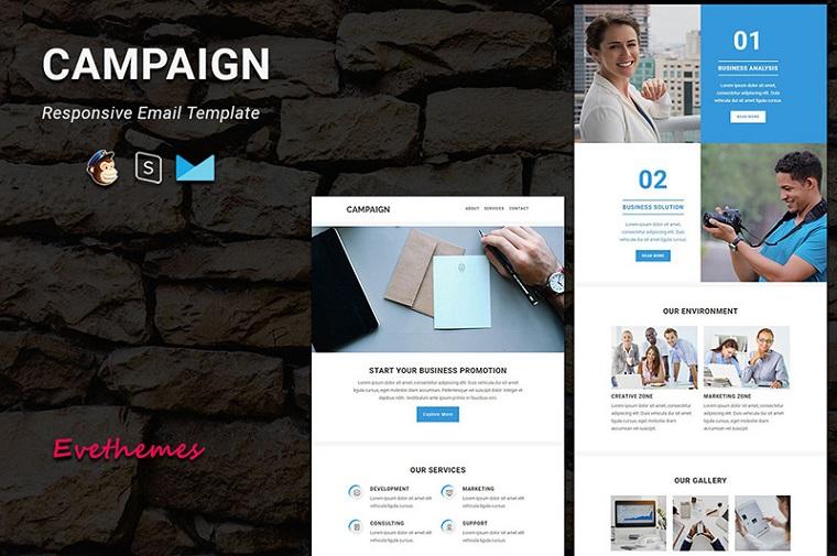 Kampagne - Responsive Email Newsletter Vorlage
