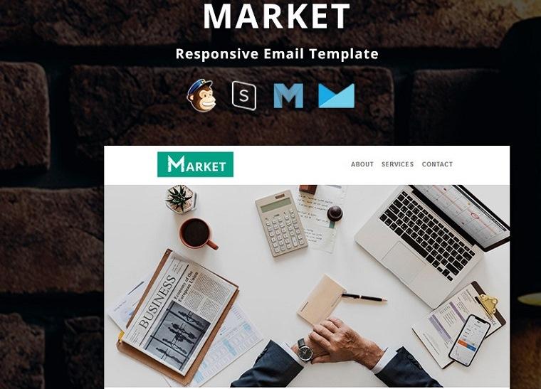 Market - Corporate Responsive E-Mail-Newsletter-Vorlage