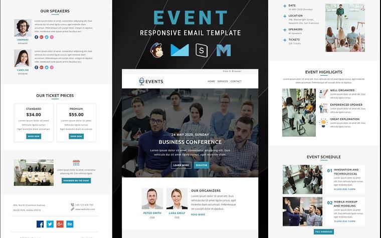 Veranstaltungen - Mehrzweck-Responsive-E-Mail-Newsletter-Vorlage
