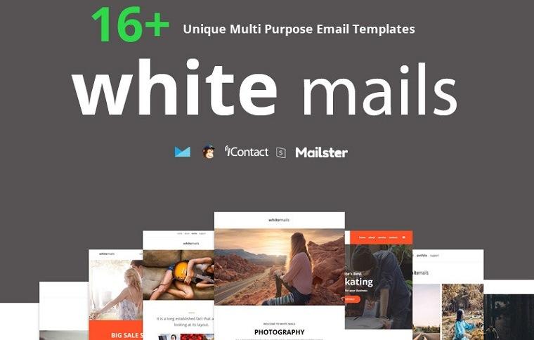 White Mails - 16+ einzigartige Mehrzweck-Newsletter-Vorlage
