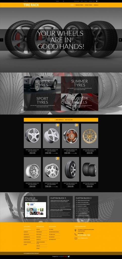 Tema de PrestaShop Gratis Para Tienda de Neumáticos Online - Blog ...