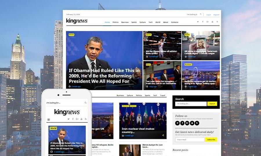 KingNews - Nuestro Nuevo Tema WordPress para Revistas y Blogs